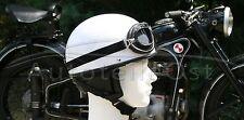 Motorradhelm + Brille Weiß Größe M 57/58 für Oldtimer Retrohelm Helm DDR
