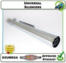NEW UNIVERSAL SILENCER CAFE RACER MOTORCYCLE EXHAUST BAFFLE CHROME MEGAPHONE