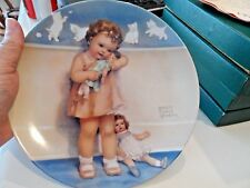 "8 1/2"" Little Mothers Series Plate-Love is Blind-Bessie Pease Gutmann-1983"