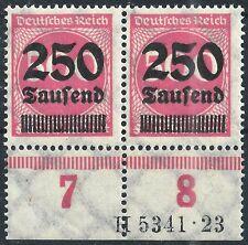 Ziffer im Kreis MiNr. 295 im Paar mit HAN 5341.23 postfrisch