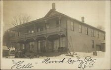 Herrick Center PA Hotel or Home c1910 Real Photo Postcard