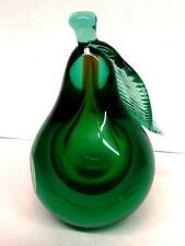 Vintage  Italian Pear Paperweight or Art Object Murano Venetian ~ Control Bubble