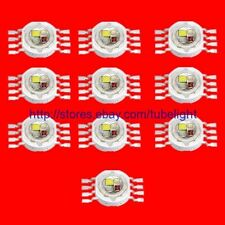 10pcs 12W RGBW high power led bead Lamp light red green blue white 3W each chip