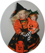 "SPECIAL HALLOWEEN OUTFITS PATTERN FOR  14"" KISH & 8"" KISH BABY!!"