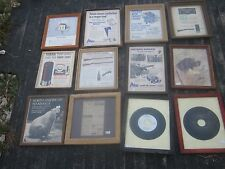 12 pcs VINTAGE Hunting Graphics Clipping in a Glass Frames Good for decor