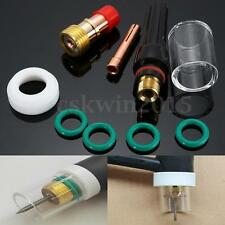 9Pcs Welding Torch TIG Stubby Gas Lens Glass Cup Kit For WP-17/18/26 1/16''