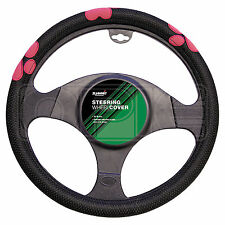 Summit SUM-718 Pink Paw Print Steering Wheel Cover - Single