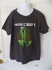 MINECRAFT GRAY CREEPER SHORT SLEEVE T-SHIRT  SIZE YS UNISEX EUC