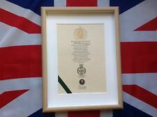 Royal Green Jackets Cap Badge Oath Of Allegiance And Sovereign's Shilling
