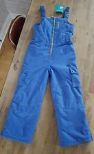 NEW Kids Boys Blue M&S Salopettes Ski Wear Trousers Pants 9-10 Years 140 cm BNWT