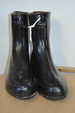 Used Military Surplus Wet Weather Black glossy Rubber Overshoes Size 6