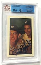 1953 Bowman Color Billy Martin & Phil Rizzuto Signed #93 Vintage Card Auto JSA