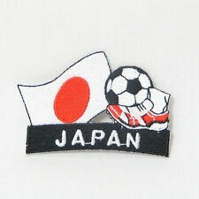 JAPAN SOCCER FOOTBALL KICK COUNTRY FLAG EMBROIDERED IRON-ON PATCH CREST BADGE