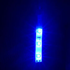 2 x Waterproof DIY BLUE 12 Volt 3 LED Self Adhesive Light Strips 200mm wire