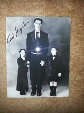 CAREL STRUYCKEN SIGNED THE ADDAMS FAMILY 8X10 PHOTO