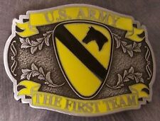 Military Belt Buckle Pewter First 1st Cavalry emblem NEW - MADE IN THE U.S.A.