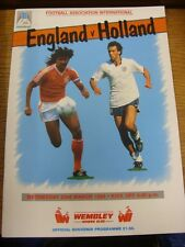 23/03/1988 England v Holland [At Wembley] . Footy Progs (aka bobfrankandelvis) a