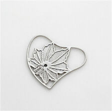 Floating charm 20mm Feather silver Heart piece for glass Living Memory Locket !