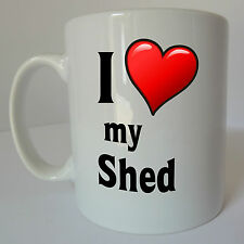 I Love Heart My Shed Mug Gift Christmas Present Cup DIY Garden Mancave Birthday