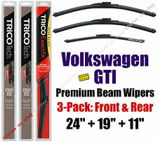 Wipers 3pk Premium Front Special Rear fit 2010-2014 Volkswagen GTI 19240/190/11H