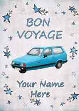 Robin Reliant Car BON VOYAGE  A5 Personalised  Greeting Card PIDRR1