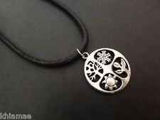"Seasons Wheel of the Year 18""-24"" necklace pendant mens pagan wiccan jewellery"