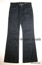 7 FOR ALL MANKIND GINGER Jeans Womens 28 x 34 LONG TALL Trouser Flare Wide Leg