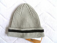 TIMBERLAND Ribbed FLINT GREY CUFF BEANIE Tuque OSFA Hat NEW WITH TAGS