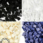 TILA TILE GLASS BEADS MIYUKI DOUBLE HOLE 5x5mm SQUARE PICK COLOR 10grams