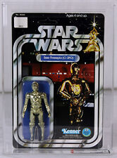 Vintage Star Wars Carded SW 12 Back-B Action Figure See-Threepio (C-3PO) AFA 75