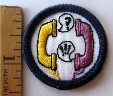 Girl Scout Junior 1994-2001 TALK BADGE Phone Telephone Conversation Patch NEW