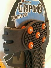 DryGuy GripOn 2 Monster Grip Shoe Boot Cover Size  L   9 - 12 Snow Cleats