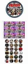 "PARTY PACK -  WWE SUPERSTARS  PERSONALIZED 7.5"" CIRCLE ICING CAKE TOPPER"