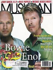 11/95 issue of MUSICIAN magazine  DAVID BOWIE cover  BRIAN ENO  Black Crowes
