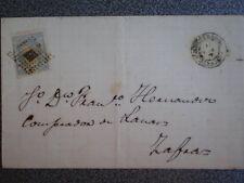 ENVUELTA CARTA AÑO 1871 FECHADOR BARCARROTA BADAJOZ A ZAFRA EDIFIL 107