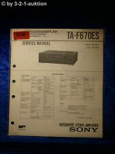 Sony Service Manual TA F670ES Amplifier (#0638)