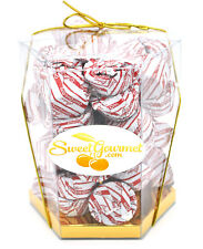 SweetGourmet Foiled Chocolate Candy Cane Cups, 19oz GIFT BOX - FREE SHIPPING!