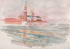 SAN GIORGIO VENICE IMPRESSIONIST Watercolour Painting H CLARENCE WHAITE c1920