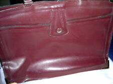 Vintage Burgundy Leather Briefcase