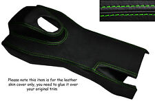 GREEN STITCH MANUAL CENTRE CONSOLE TRIM LEATHER SKIN COVER FITS JAGUAR E TYPE