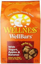 Wellness Wheat Free Oven Baked Biscuits for Dogs, WellBars Yogurt, Apples and Ba