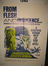 Frankenstein Created Woman Original 1sh Movie Poster '67 Peter Cushing,