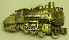 1980 Brass 3D Belt Buckle Railroad Train Switch Steam Engine 0-6-0 LE 272 USA