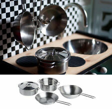 5 Piece Children Kids Cookware Cooking Set Stainless Steel color IKEA DUKTIG NEW