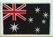 AUSTRALIA Flag Patch with VELCRO® brand fastener Military B & W