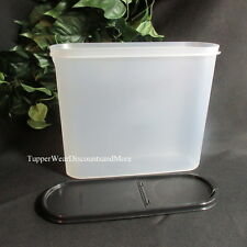Tupperware NEW MODULAR Mate MATES SUPER OVAL # 4 Container Pour All Black Seal