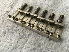 TOG RELIC AGED VINTAGE STEEL STRAT BRIDGE SADDLES 2 1/16 SPACING SET OF 6