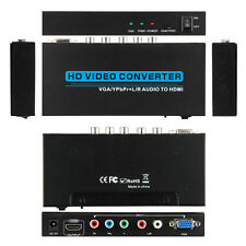 NEW VGA YPbPr+R/L Audio to HDMI Video Converter Scaler Composite Component DVD
