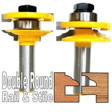 """2pc 1/2"""" SH Double Round Rail & Stile Router Bit Set sct-888"""