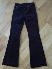 7 For All Mankind The Ginger Corduroy Flare Pants Merlot 29 NWT